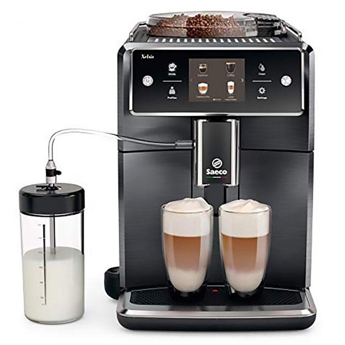 Saeco Xelsis Superautomatic Espresso Machine - forward view Black Titanium